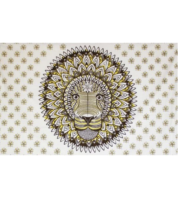 TENTURE LION MARRON - TAPISSERIE ANIMAL