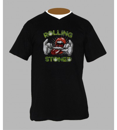 TEE SHIRT ROLLING STONES PAS CHER - ACHETER T-SHIRT ROLLING STONE WEED
