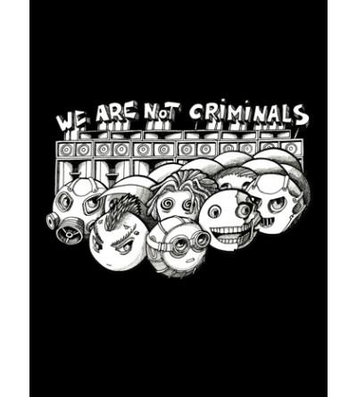 Tee shirt free party is not a crime, vêtement homme pas cher