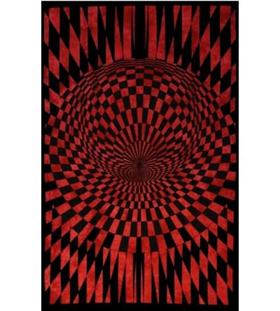 Tenture psychédélique rouge - Tapisserie
