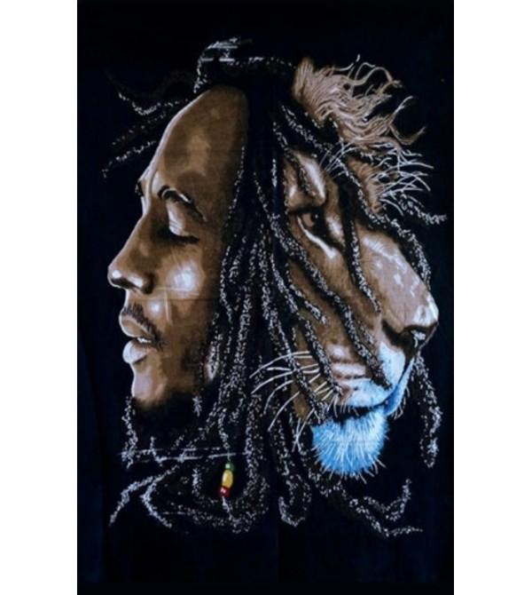 DRAPEAU BOB MARLEY LION
