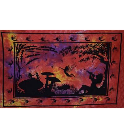 Tenture fée rouge - Tapisserie murale