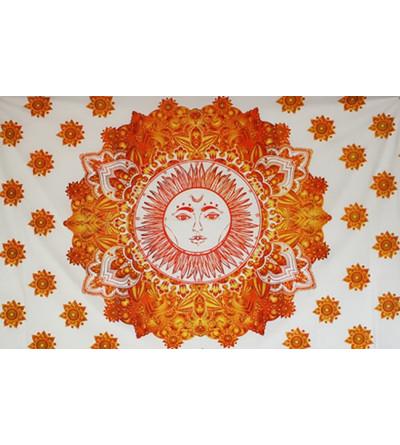 Tenture lune et soleil - Tapisserie murale