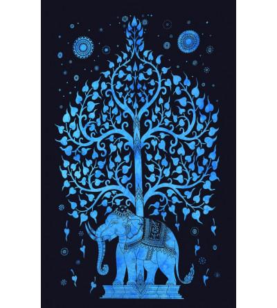 Tenture Arbre de Vie elephant indienne tenture murale hippie boheme