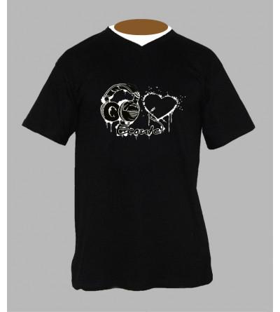 T-shirts originaux homme techno Col V
