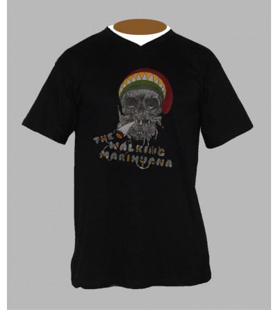 T-shirt original homme Col V '' rasta ''