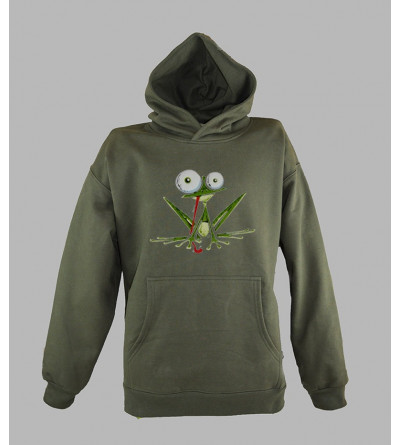 Sweat homme a capuche grenouille
