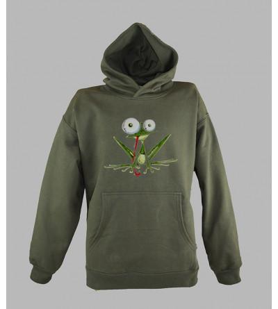 Streetwear homme, sweat a capuche grenouille