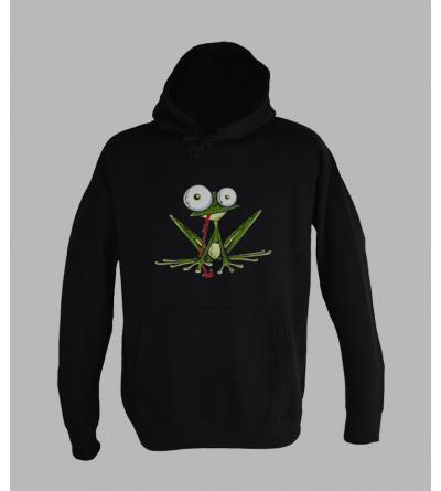 Streetwear homme, sweat capuche grenouille