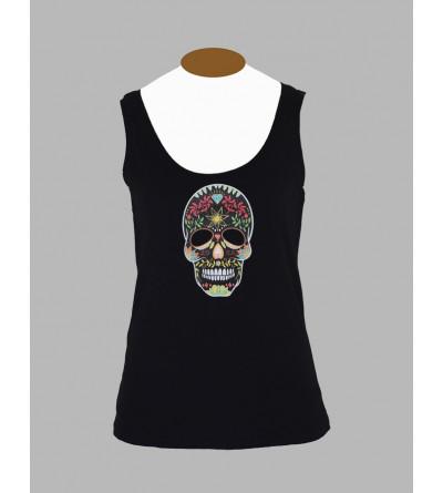 Vetement Streetwear - Débardeur tête de mort mexicaine