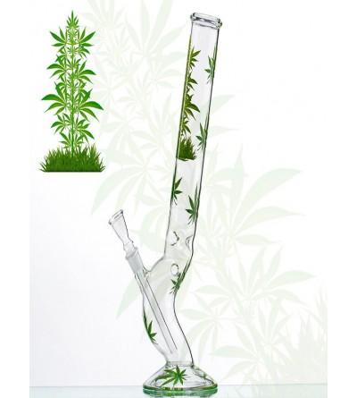 Bang en verre feuille de cannabis 45CM
