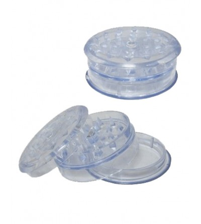 Grinder en acrylique blanc 6 cm, grinder sans tamis