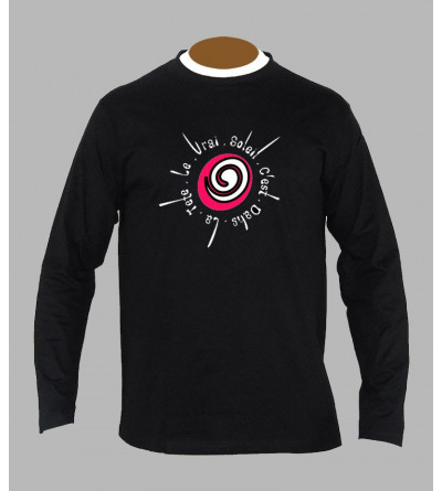 Tee shirt techno spirale manches longues