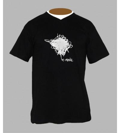T-shirt electro homme '' Et Merde '' Col V