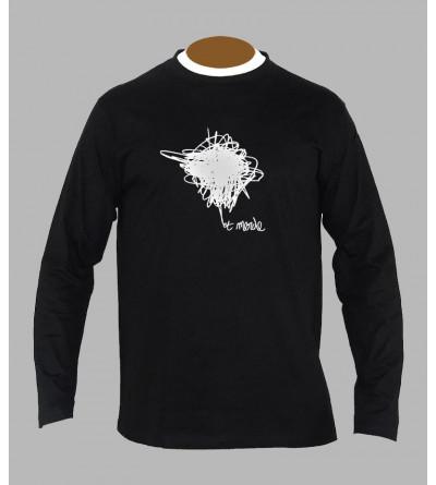 T-shirt electro '' Et Merde '' manches longues