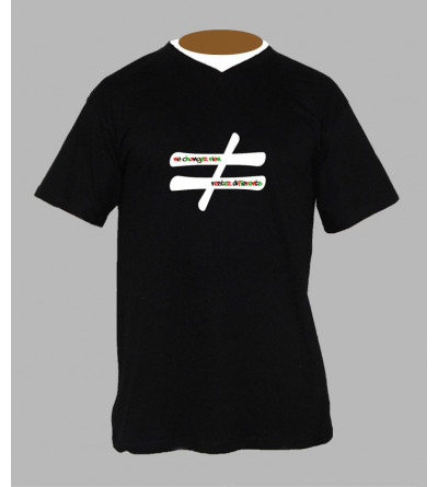 T-shirt techno hardtek homme Col V