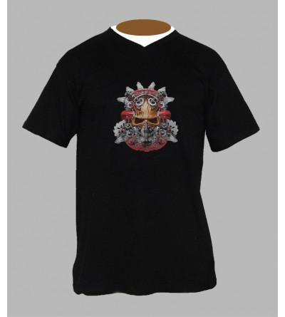 T-shirt hardcore homme Col V
