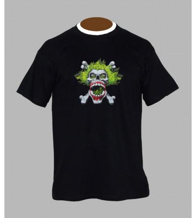 Tee shirt hardcore tête de mort - Vêtement homme