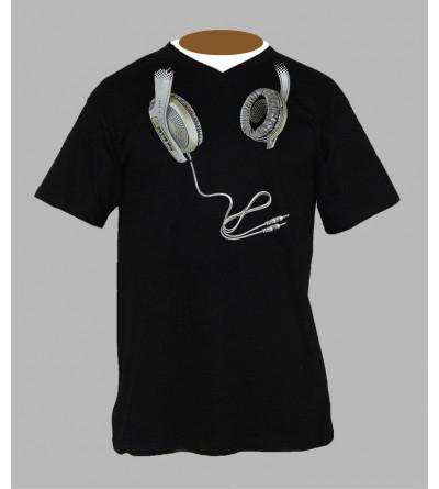 T-shirt technics Dj homme Col V