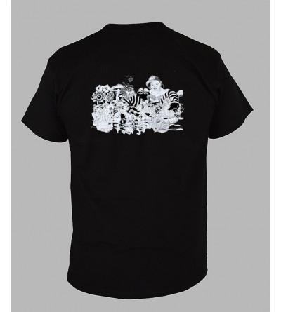 T-shirt psychédélique homme Alice col V '' Le dos ''