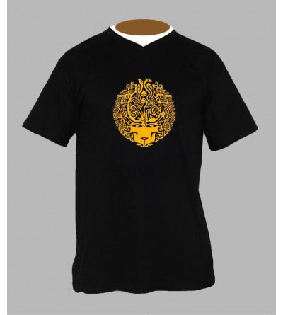 Tee shirt psychedelique champi homme Col V