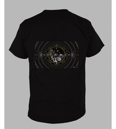 Tee shirt psychedelique homme Col V