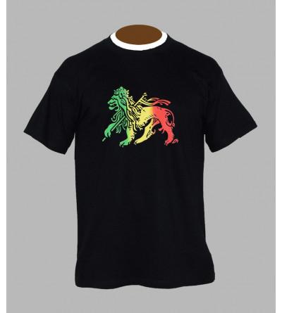T-shirt rasta lion vert jaune rouge