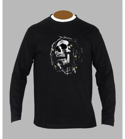T-shirt Bob Marley homme manches longues