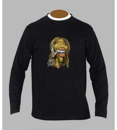 Tee shirt Bob Marley cannabis manches longues