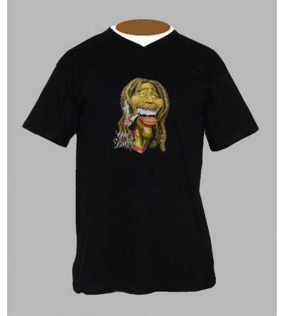 Tee shirt Bob Marley cannabis homme Col V