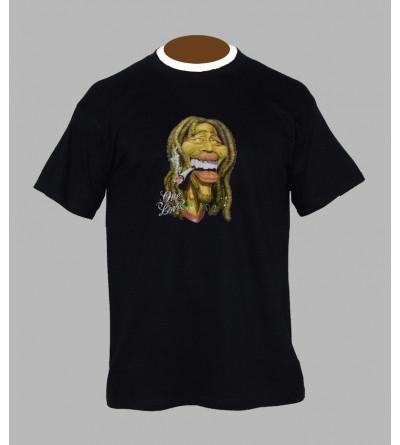 T-shirt Bob Marley cannabis - Vêtement homme