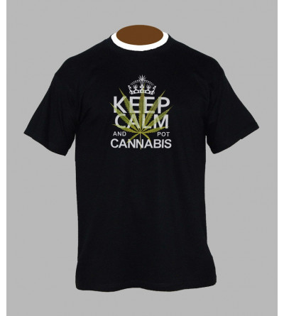 T-shirt cannabis - Vêtement homme