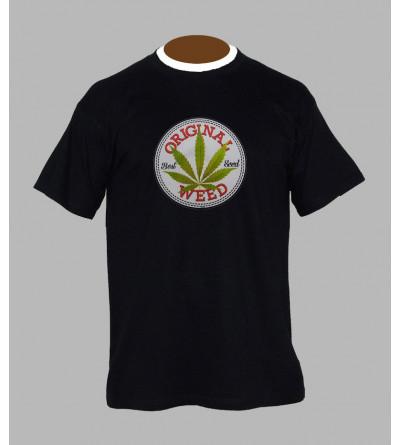 T-shirt feuille de cannabis homme