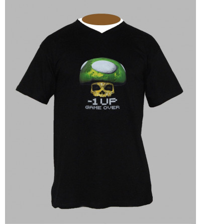 T-shirt trance champi homme Col V