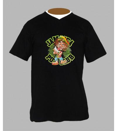 T-shirt fluo rasta homme Col V