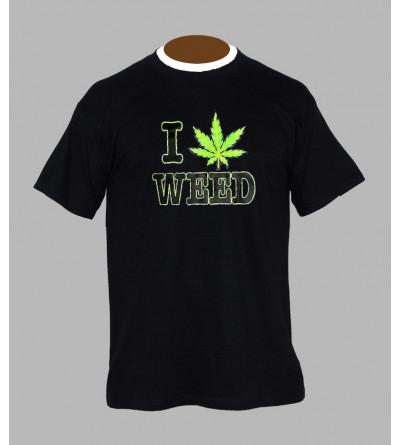 T-shirt fluo cannabis - Vêtement homme