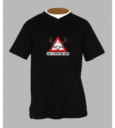 T-shirt hardstyle gaz homme Col V