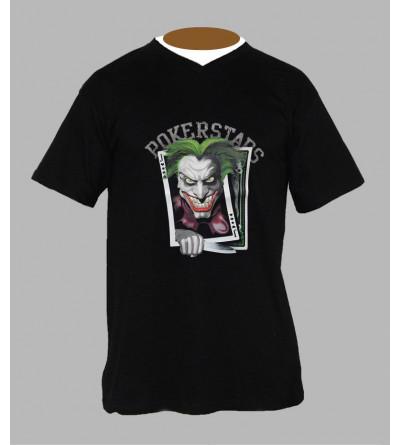 T-shirts hardstyle joker homme Col V