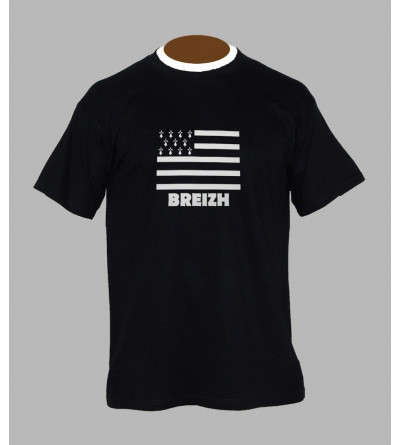 T-shirt drapeau breton homme '' BzH ''