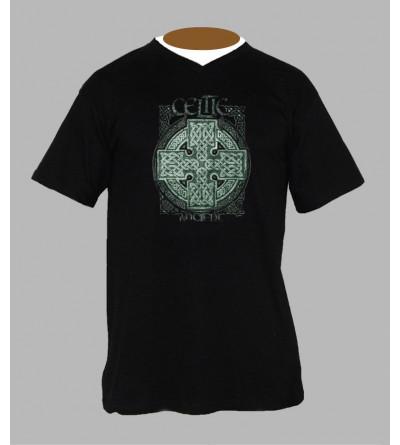 T-shirt breton celtique homme Col V
