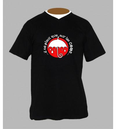 Tee shirt breton humoristique homme Col V
