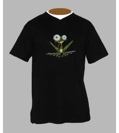 Tee shirt breton grenouille homme Col V