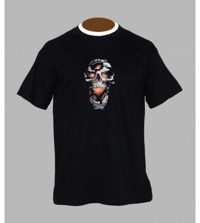 T-shirt tete de mort rock - Vêtement homme