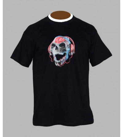 T-shirt tete de mort Dj  - Vêtement homme