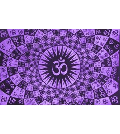 Tenture ohm psychédélique violette - Tenture om