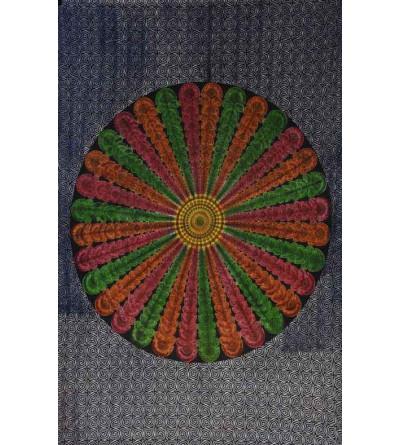 Tenture mandala tricolore
