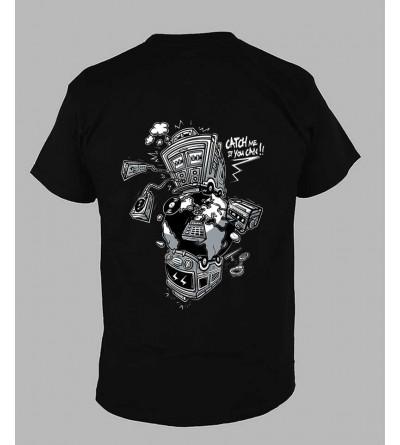 T-shirt sound system Col V ''Ref-140-b'' fringue teuf free party rave tekno tee shirt techno vetement14