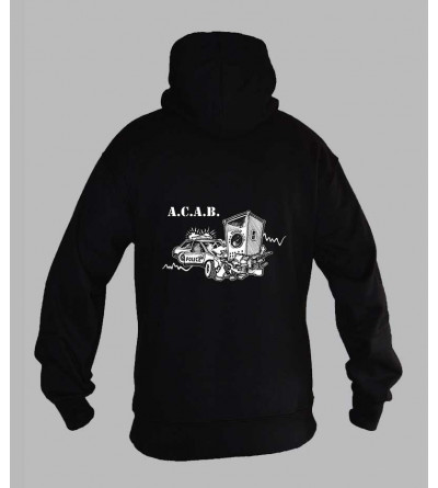 Sweat capuche homme A.C.A.B 1312 Sweat ACAB teuf free party fringue vetement acab 1312