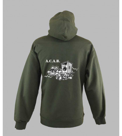 Sweat-shirts A.C.A.B homme, fringue de teuf Sweat-shirts A.C.A.B homme fringue teuf free party sound system sweat acab