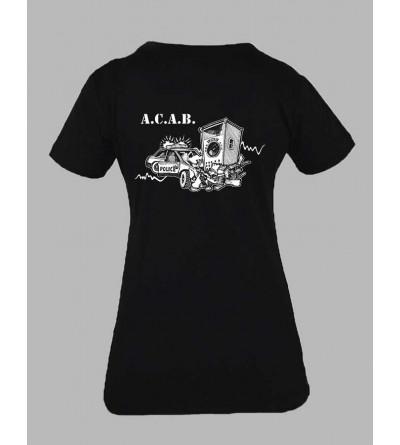 T-shirt ACAB Femme - Fringue teuf free party tekno Tee shirt acab 1312